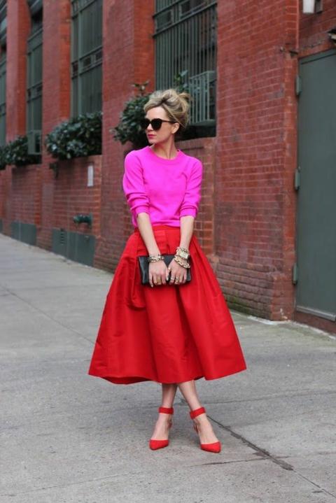 kak da nosim cherveni obuvki
