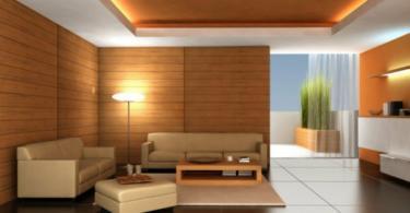 Дървените елементи в интериора на хола
