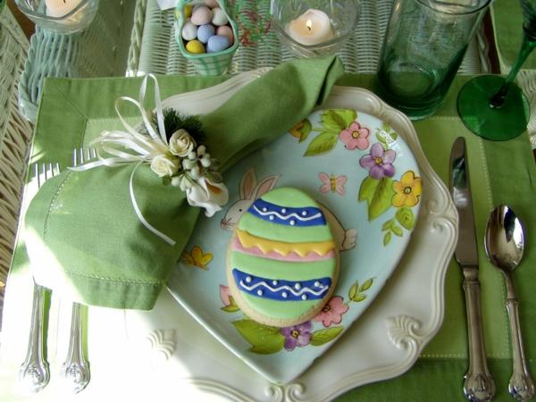 dekoraciq velikdenska masa zelena