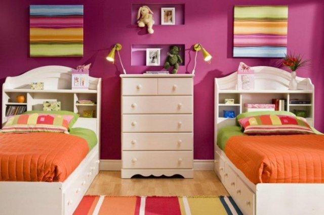детска стая две момичета идея за обзавеждане