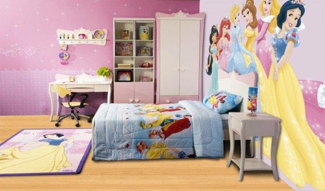 детска стая за малки принцеси рисунка стена