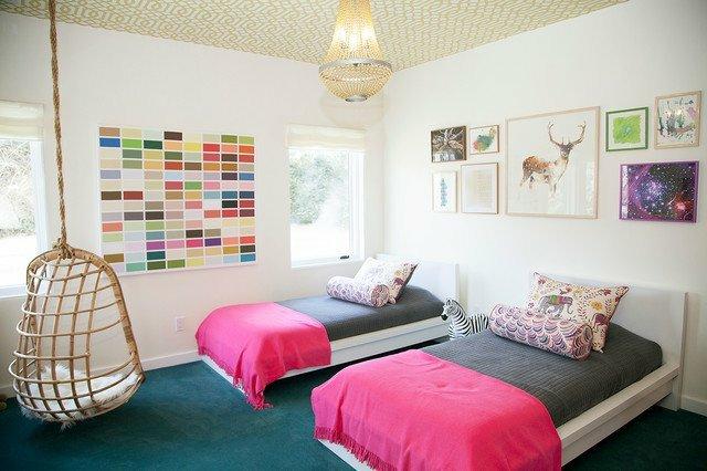 детска стая две момичета идея интериорен дизайн