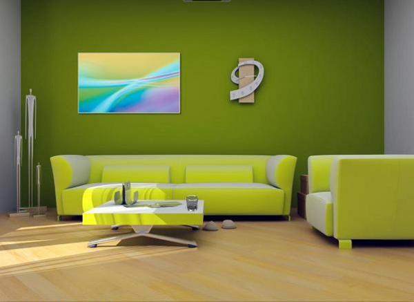 divan hol interior zeleno stena