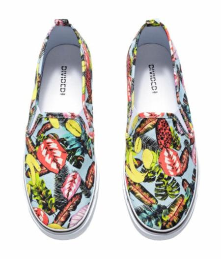 florali ravni obuvki