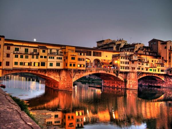 florenciq italiq mosta ponte vekio reka arno