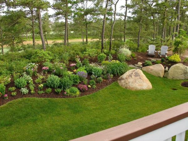 gradina moderna zeleno hrasti rasteniq kamani