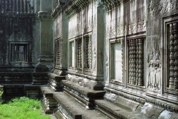 stena hram kamak kambodja angkor vat
