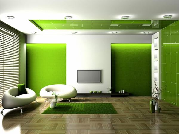 idei hol zeleno stena kilim mebeli