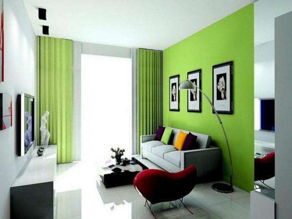 idei hol zeleno steni interior
