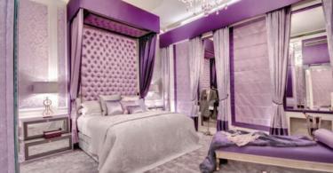Идеи за лилава спалня - романтика и стил