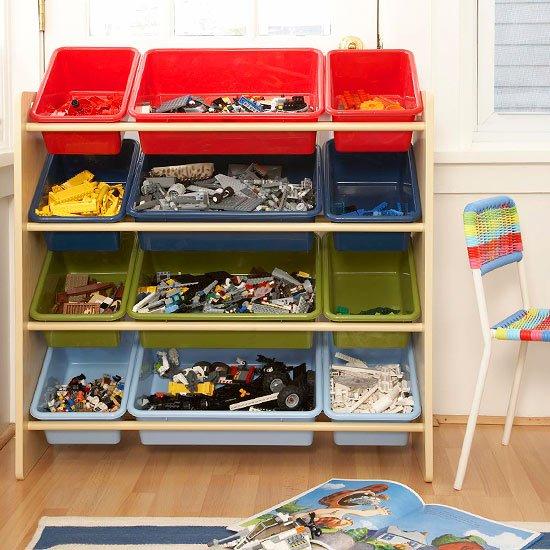 идеи за съхранение детски играчки