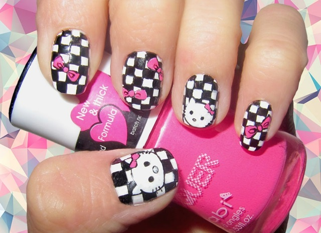idei manikiur kare hello kitty
