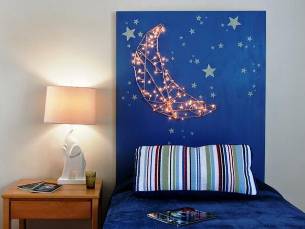 interior obzavejdane idei tabla leglo spalnq zvezdi luna