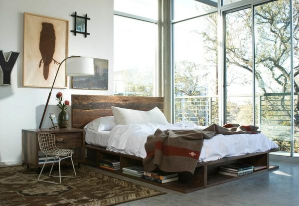 interior spalnq industrialen stil spalnq leglo kartina kilim