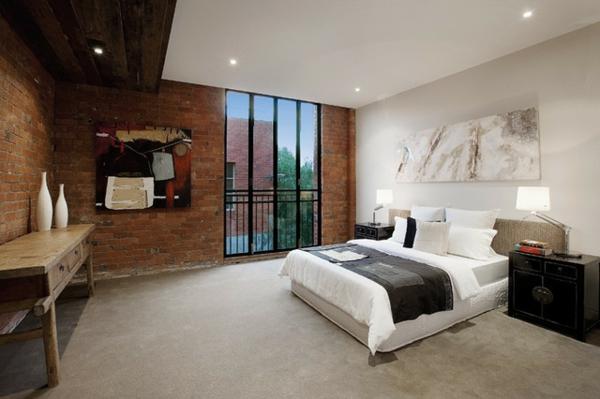 interior spalnq industrialen stil tuhli leglo bqlo