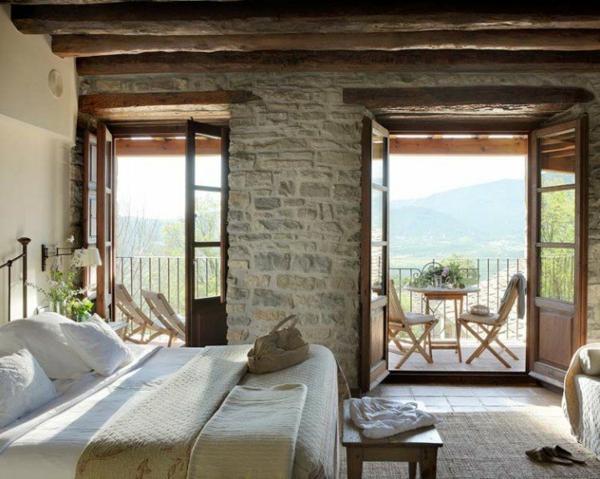 interior spalnq industrialen stil leglo stena