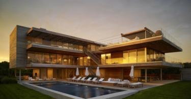 Къща с басейн в модерен стил - лукс в Ню Йорк