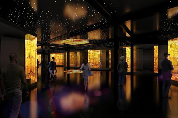 interior sgrada ot zlato magazini koridor