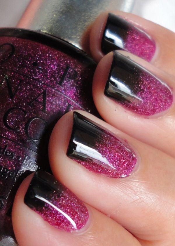 manikiur ombre cherno lilavo