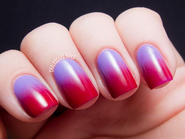 manikiur ombre lilavo cherveno