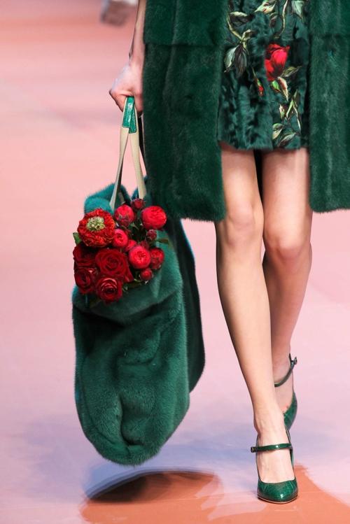milano modna sedmica esen zima D&G zeleno