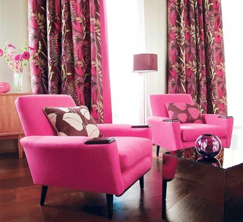 moderen hol rozov interior zavesi