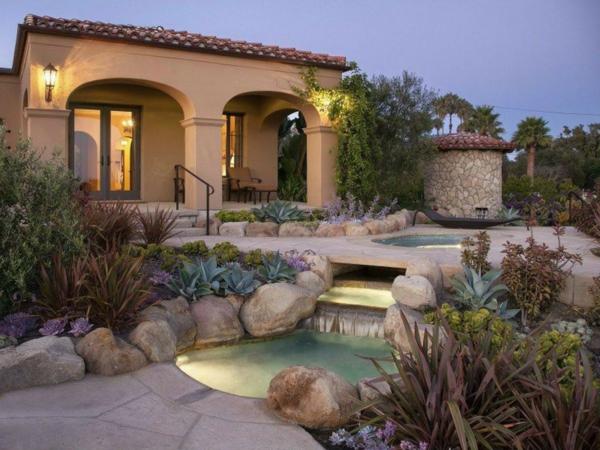 moderna gradina kamani vodopad