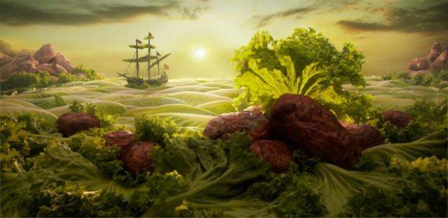 morski peizaj hrana salata