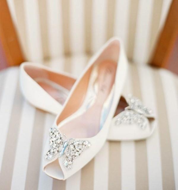 niski obuvki svatba beli kamani