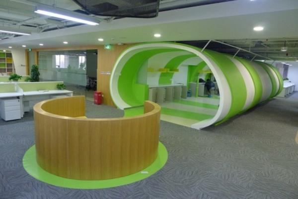 obzavejdane interior ofis kitai sivo kilim