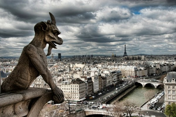 paris gorgoyle katedrala notr dam