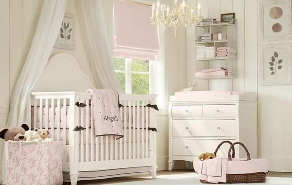 цветове за бебешка стая розово бяло
