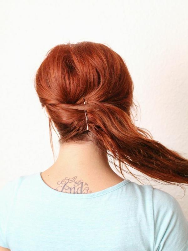 napravi si sam pricheska pribrana kosa