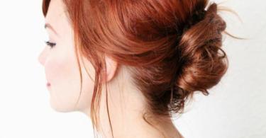Лесна прическа с прибрана коса