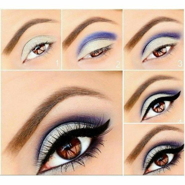 начини да направите професионален грим очна линия лилаво