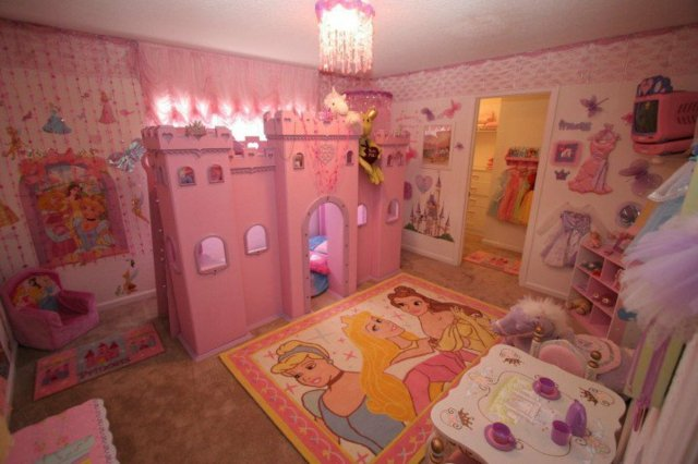 детска стая за момичета интериор принцеси