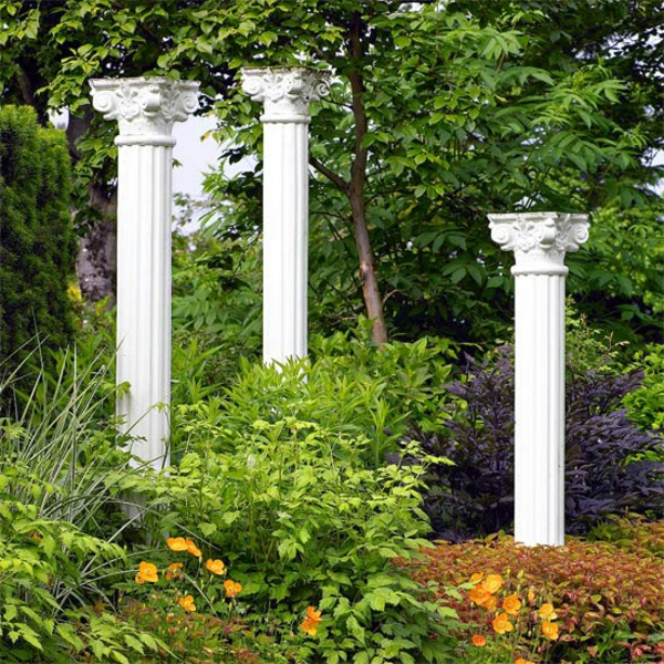 Съвети за градина римски колони растения цветя