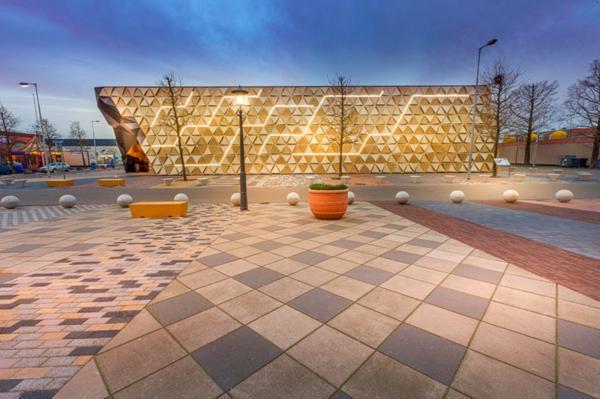 fasada sgrada plochki ulica arhitektura