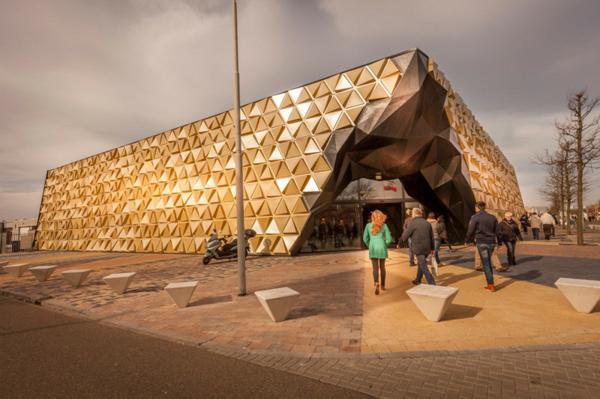 sgrada zlato futuristichen stil arhitektura