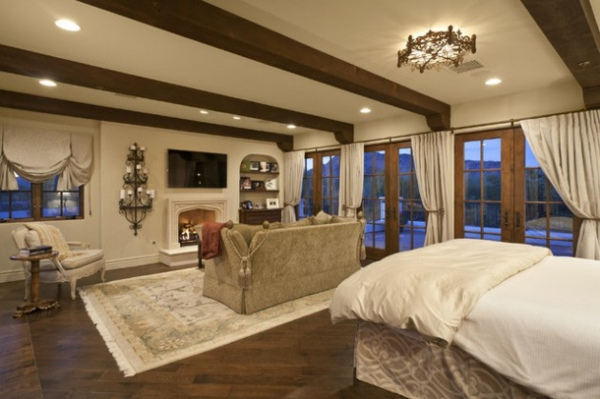 sredizemnomorski stil spalnq interior bejovo divan