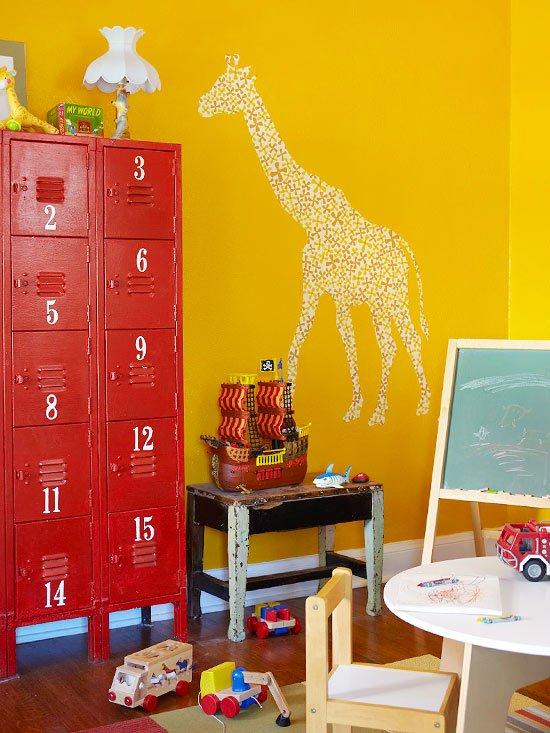 идеи за съхранение детски играчки  шкафове