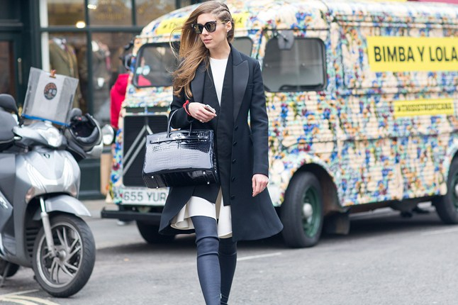 street style london tendencii cherno bqlo bleizer