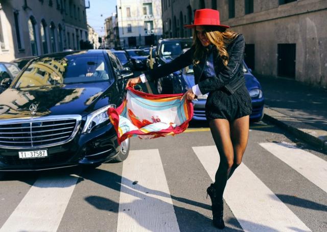 street style milano esen anna dello russo d&g