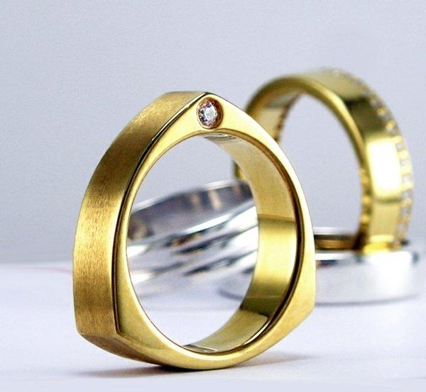 svatbena halka jalto zlato diamant