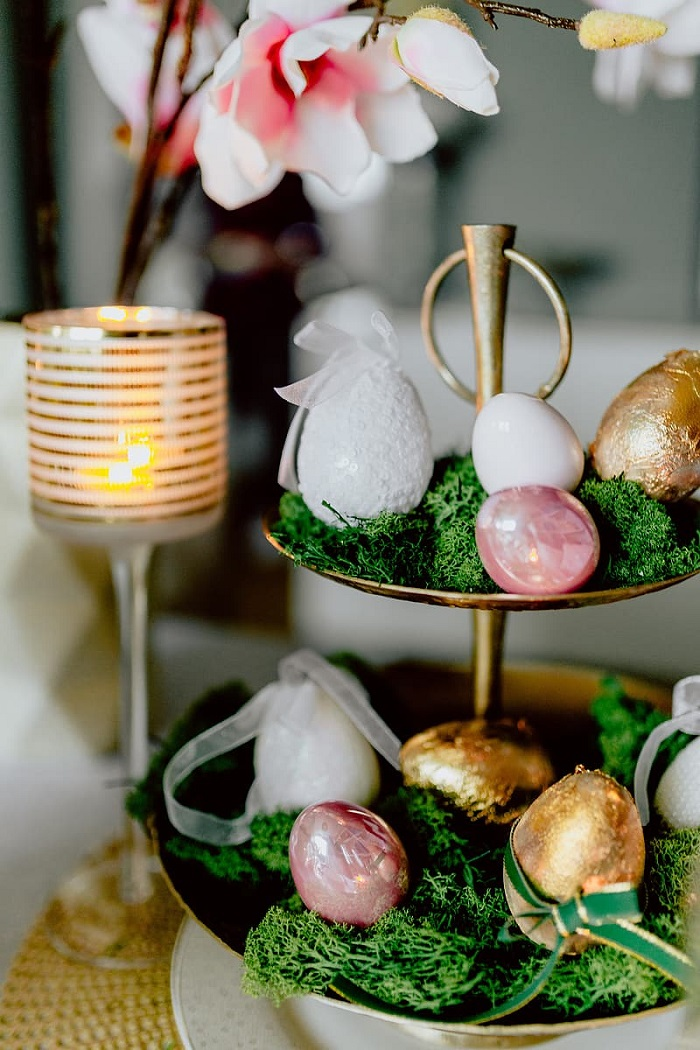 великденска декорация за маса