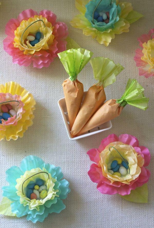 velikdenska dekoraciq za masa s hartiq morkovi