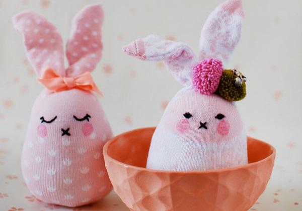 чорапени зайчета