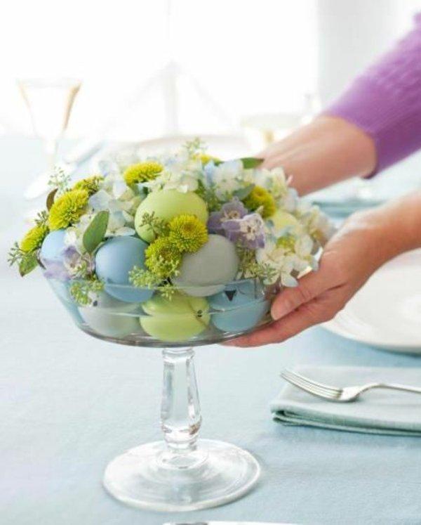 Свежи великденски украси за маса