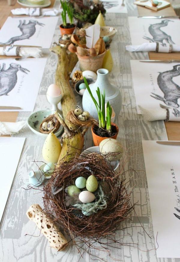 velikdenska dekoraciq za masa s pudpuduchi qica