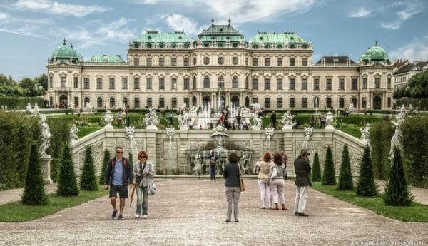 viena dvorec belvedere avstriq